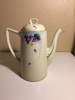 "Nippon E-Oh Pitcher, Hand Painted Gold Trim 9"" Tall, Ships Fast!"