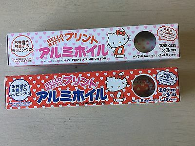 Herllo Kitty Aluminum foil Roll Silver Paper food Wrap kitchen   2set from japan