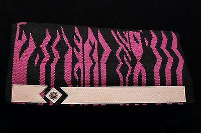 Lariat Wild Side Western Layered Saddle Pad Pink Zebra FREE SHIPPING!