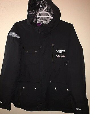 Xl Oakley Tony Stewart Haas Team Issued Ski Jacket Hooded Chevy Shell Old Spice