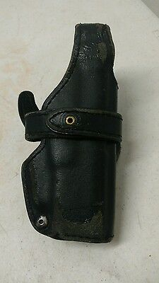 Police Glock Leather Gun Holster Black 1107 Vintage