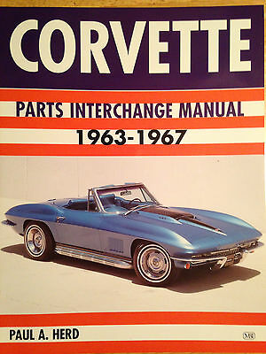 1963-1967 Corvette Parts Interchange Manual Sting Ray C2 Numbers 64 65 66 327