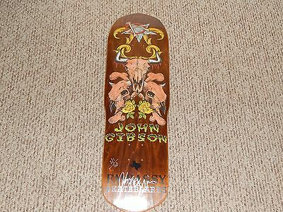 John Gibson Signed and Numbered Skateboard Deck