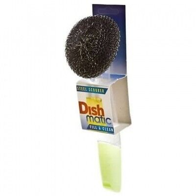 Dishmatic Steel Scourer for cleaning BBQ's, Grills, Hot Plates, Steel Pots & Pan