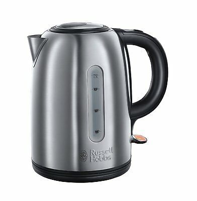 Russell Hobbs 20441- 1.7 Litre 3000W Snowdon Electric Jug Kettle In Sliver-New
