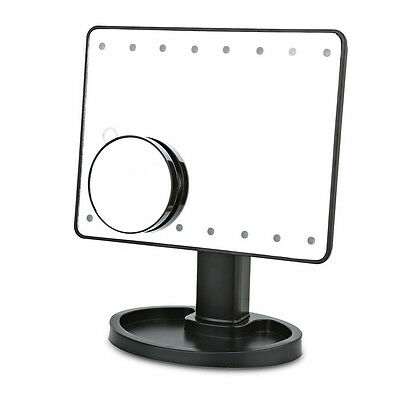 Touch LED Light Illuminated Make Up Cosmetic Vanity Mirror Bathroom Tabletop AUS