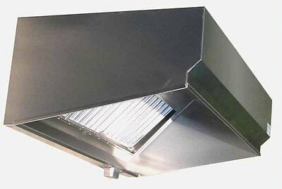 Superior Hoods 6Ft Stainless Steel Restaurant Range Grease Hood NSF NFPA96 - VSE