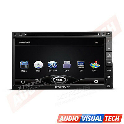 "XTRONS Double 2 DIN 6.95"" In Dash Car Stereo Radio CD DVD Player GPS Navigation"