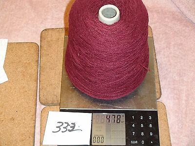 KNITTING MACHINE YARN ON A CONE 4PLY SYNTHETIC MAROON 478g