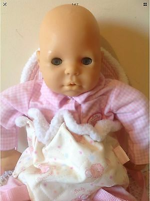Very Realistic Zapf Creations Baby Annabelle Doll & Carrier 47cm Tall VGC