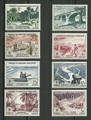 French west Africa. Complete series of 8 new stamps** 1950        (4402)