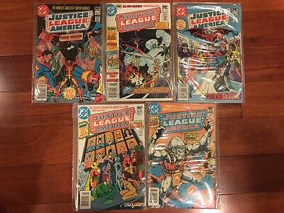 Justice League of America  Lot#192, 193, 194, 195, 196 (1981, DC) VF Condition