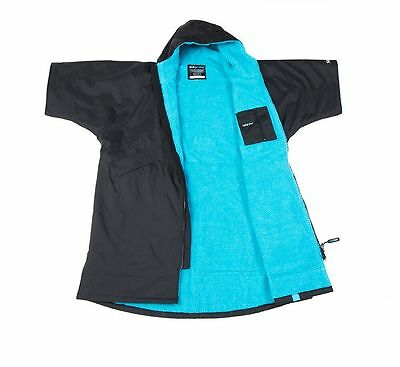 Dryrobe Advance Kids up to 5ft 6in Waterproof Changing Robe Poncho Black Blue
