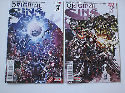 MARVEL COMICS ORIGINAL SINS #1 and #2 of 5 see Pictures.