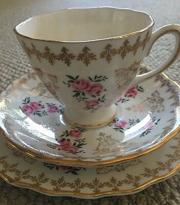 Colclough Fine Bone China Cup, Saucer & Cake Plate