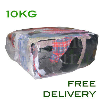 10Kg Mixed Rags Wipers Workshop Engineering Cleaning Wiping Industrial Cloths