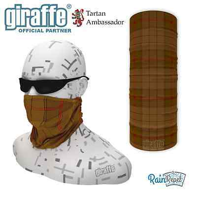 Ulster Brown District Tartan Multifunctional Headwear Neckwarmer Snood Bandana