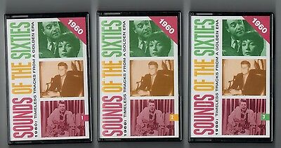 Sounds Of The Sixties - 1960 - Readers Digest Set Of 3  Cassette Albums