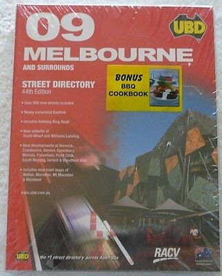 09 Melbourne And Surrounds Ubd 44Th Street Directory New Sealed