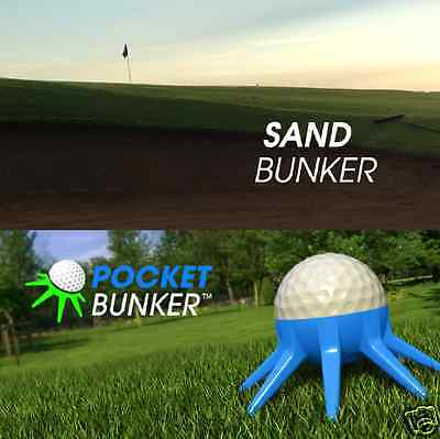 POCKET BUNKER: A Training Tool to Practice Hitting Out of Sand in all Golf Bags