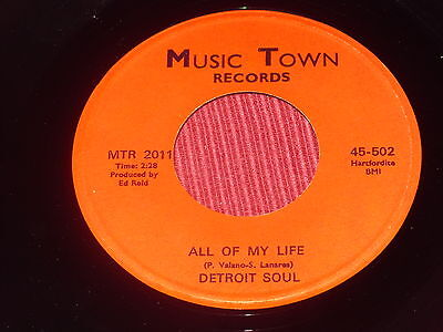 Detroit Soul:  All of my life    EX+   7""