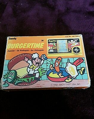 Rare burgertime game and watch boxed