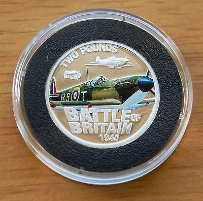 Battle Of Britain Spitfire Jersey 2010 £2 Two Pounds Silver Proof Coin COA #