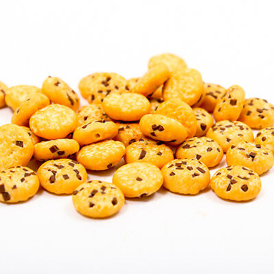 5PCS Chocolate Chips Cookies Bakery 10mm 1:12 Scale Miniature Dollhouse A1738
