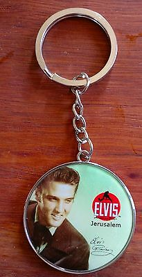 ELVIS PRESLEY COLLECTOR  Key Chain From Israel THE KING OF ROCK  'n' ROLL