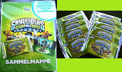 Topps SKYLANDERS SWAP FORCE Trading Cards Starter Set Pack+Tüten Booster Mappe