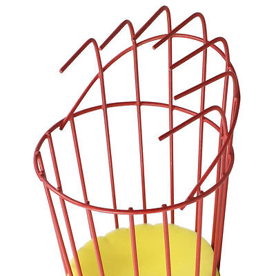 5X(Fruit Picker Basket Fresh Orange for Broom Pole Stick Red S*