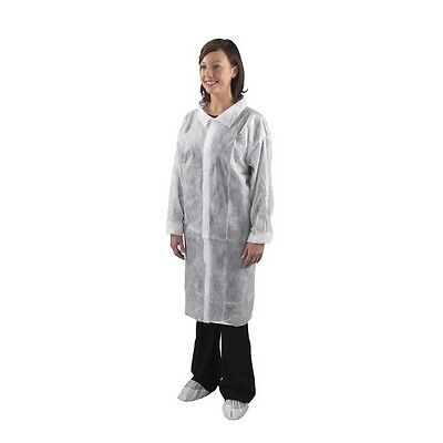 Shield Disposable Visitor Coat With Velcro Fastening