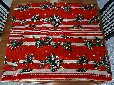 RARE Vintage CHRISTMAS 2 CURTAINS SPRING MILLS TEXTILES HOLIDAY Fabric DRAPES
