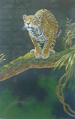 """Stephen Gayford. Framed limited edition print of a Leopard """"Balancing Act"""""""