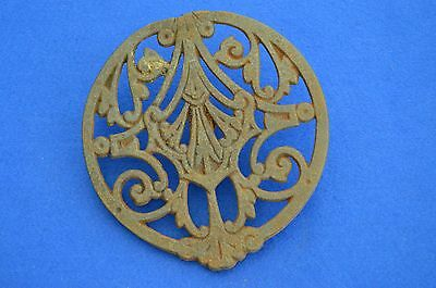 Late Victorian Cast Iron Drain / Vent Cover - architectural antiques - Gutter