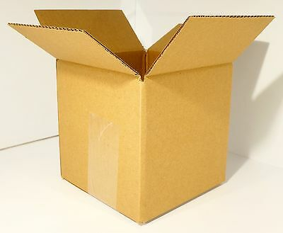 "New 20 Pack 8""x8""x8"" Corrugated Cardboard Shipping Box 65 LB Limit 32 LB ECT"