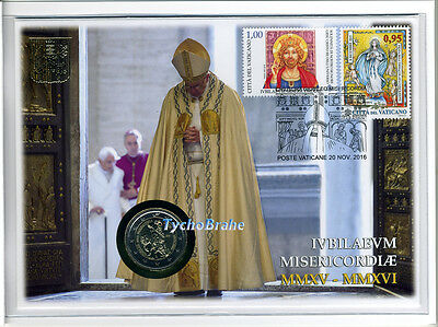 Philatelic Numismatic Cover Holy Year Mercy Jubilee 2016 Pnc Vatican 2 Euro