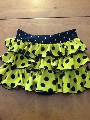 Reverence Performance Dance Apparel Youth Medium Black Yellow Skirt