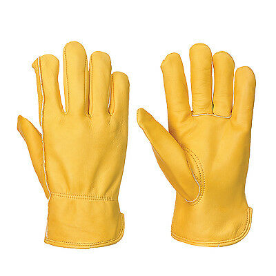 Portwest A270 Classic Warm Winter Driver Workwear Thermal Gloves - Tan