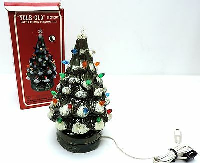 Yule-Glo Vintage lighted ceramic christmas tree in original box