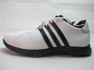 Mens Adidas Golflite White Black Lace Up Golf Used Shoes UK 8 EUR 42