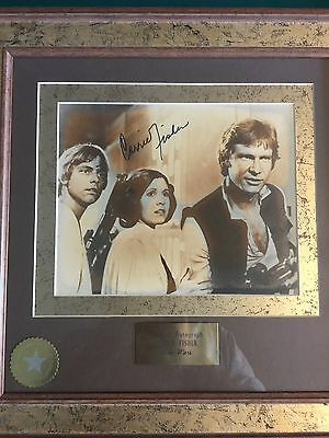 Carrie Fisher Authentic Disney World Signed Autograph