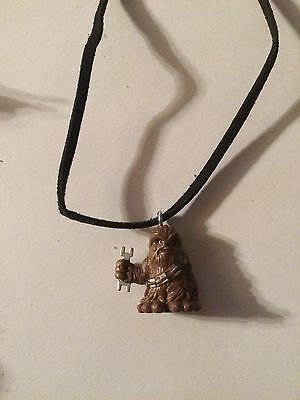 Chewbacca Necklace Star Wars Suede Cord Toy Figure Collectible