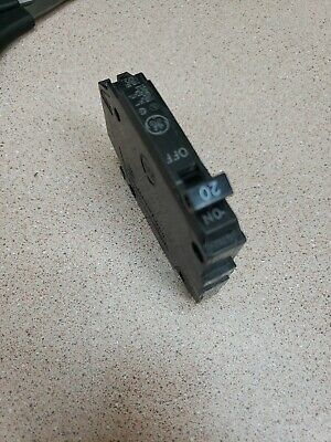 Used Ge General Electric Thqp120  Circuit Breaker 1 Pole  20 Amp 120 Vac