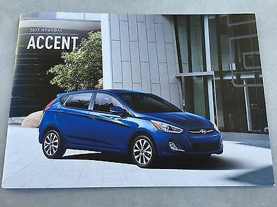 2017 HYUNDAI ACCENT 12-Page Original Sales Brochure