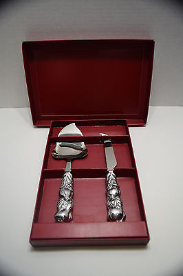 Arthur Court Della Robia Stainless Cheese Servers 04-0770 With Box