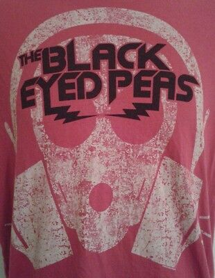 Black Eyed Peas T Shirt Mens Sz S Small Band Rap Pop Red Fergie Will I Am