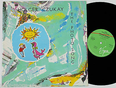 "HOLGER CZUKAY The Photo Song 12"" vinyl UK 1984 Virgin Can/Connie Plank"