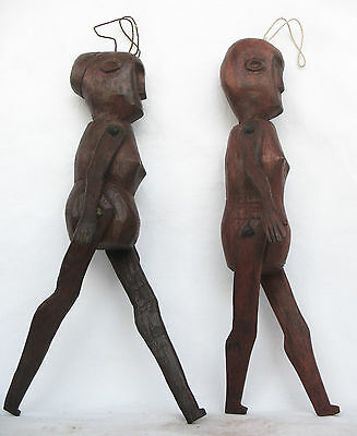 2 pc TIMOR TRIBAL PUPPET / DOLL / TOY - CULTURAL ARTIFACT