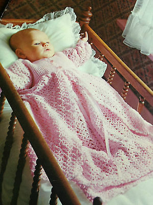 Patons #133 Baby Fashions Vintage Knitting Crochet Patterns Smocked Dress